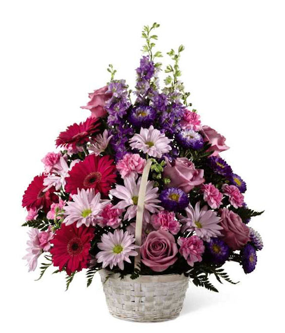 The Bright Blooms Basket - Deluxe