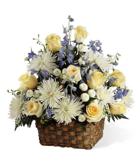 The Divine Florals Basket - Premium