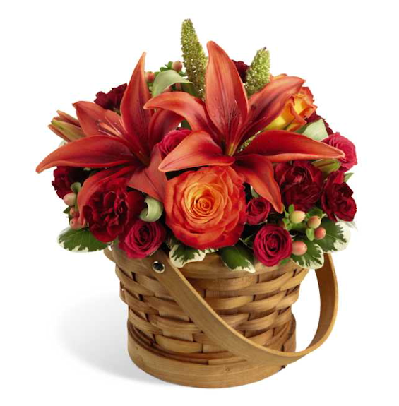 Lilies Of Love Basket From Growerdirect Fall Harvest Bouquet