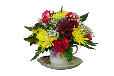 Tea Cup Floral Design By Sarnia Grower Direct