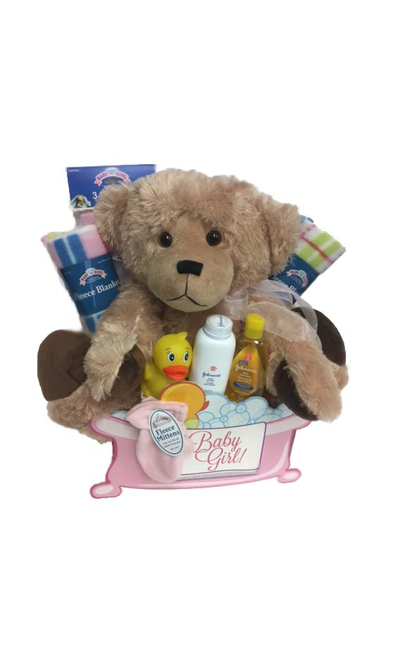 Baby Gift Baskets Thunder Bay : Grower direct premium gift baskets sweet cheeks baby girl
